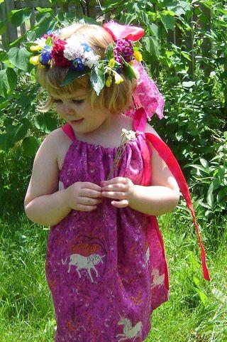 Frances in the Unicorn Dress