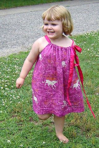Frances in the Unicorn Dress