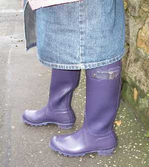 Wellington Boots in Aubergine by Hunter