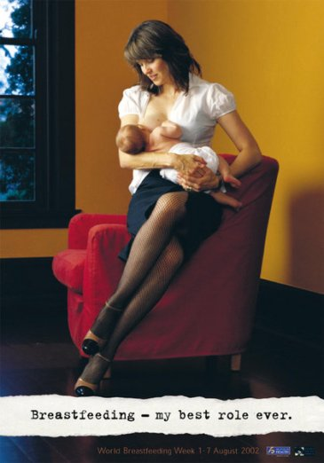 Lucy Lawless, breastfeeding